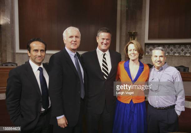 Richard Greene James Cameron Joe Scarborough Sigourney Weaver and Tom Friedman attends a Global Environmental Issues Forum at the Senate Dirksen...
