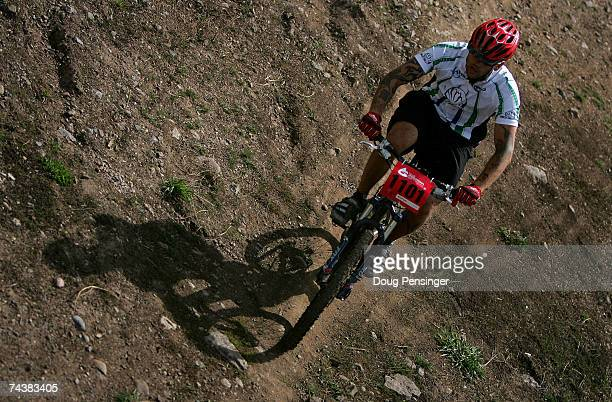Richard Gregory makes his way around the course in the Pro Division of the Nature Valley Mountain Bike Championship during the Teva Mountain Games on...