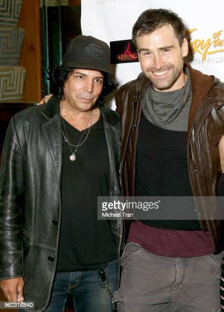 Richard Grieco and Sean Stone attend the Los Angeles premiere of Comedy Dynamics' The Fury Of The Fist And The Golden Fleece held at Laemmle's Music...