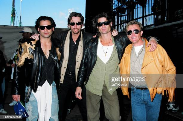 Richard Grieco Eric Douglas and Kirk Fox at The 1993 MTV Super Bowl Show at The Rose Bowl on January 31st 1993 in Anaheim CA