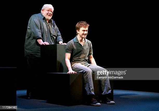 Richard Griffiths and Daniel Radcliffe during Equus Press Photocall February 22 2007 at Gielgud Theatre in London Great Britain