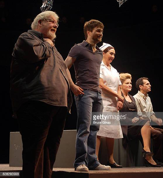 Richard Griffiths Daniel Radcliffe and the cast auctions off the Lucky Brand jeans worn in Equus for Broadway Cares/Equity Fights AIDS on Broadway at...