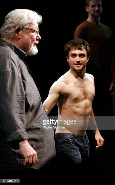 Richard Griffiths Daniel Radcliffeduring the Curtain Call for the Opening Night Performance of EQUUS at the Broadhurst Theatre in New York...