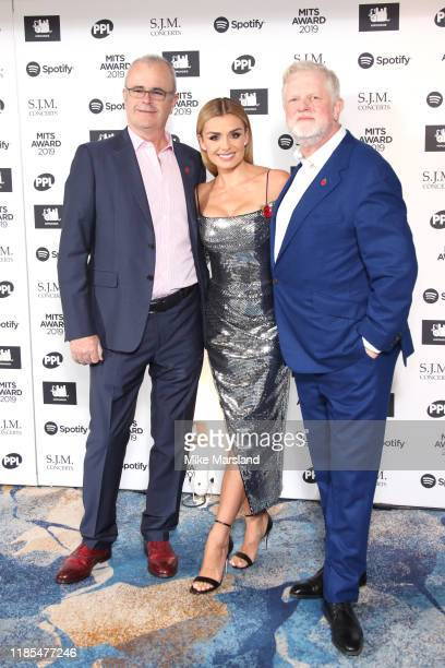 Richard Griffiths Katherine Jenkins and Harry Magee attend the Music Industry Awards Gala 2019 at The Grosvenor House Hotel on November 04 2019 in...