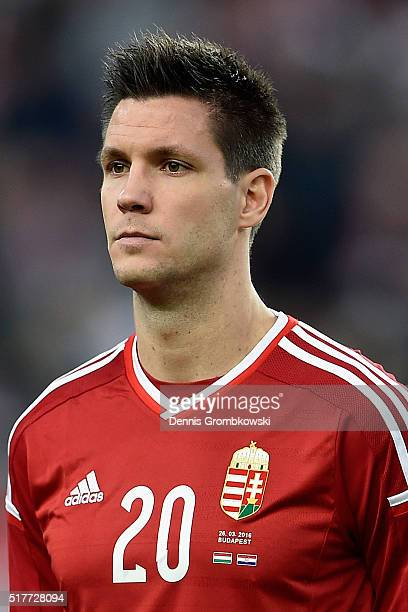 Richard Guzmics of Hungary in action during the International Friendly match between Hungary and Croatia at Groupama Arena on March 26 2016 in...