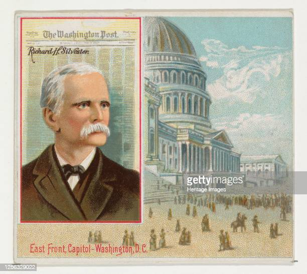 Richard H. Silvester, The Washington Post, from the American Editors series for Allen & Ginter Cigarettes, 1887. Artist Allen & Ginter.