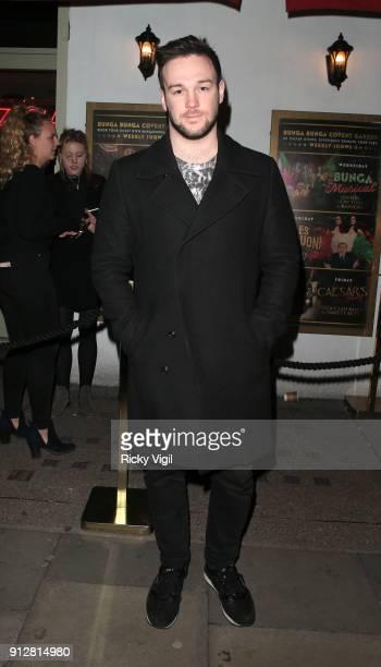 Richard Hadfield attends Celebrities attend Bunga Bunga 1st birthday party at Bunga Bunga Covent Garden on January 31 2018 in London England