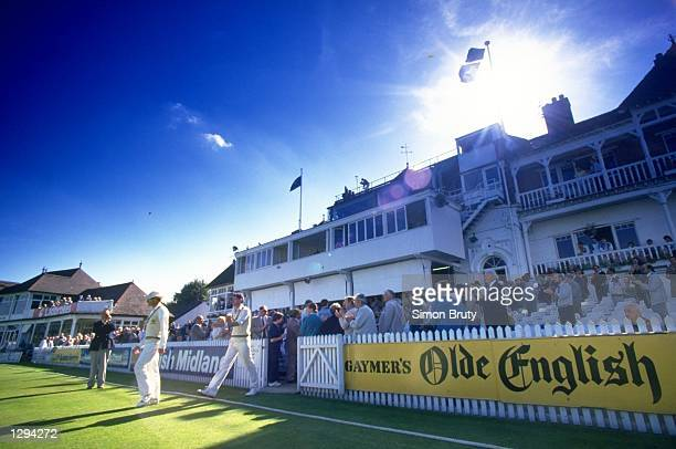 Richard Hadlee and Clive Rice of Nottinghamshire celebrate after their victory in a match against Glamorgan wins them the County Championships. \...