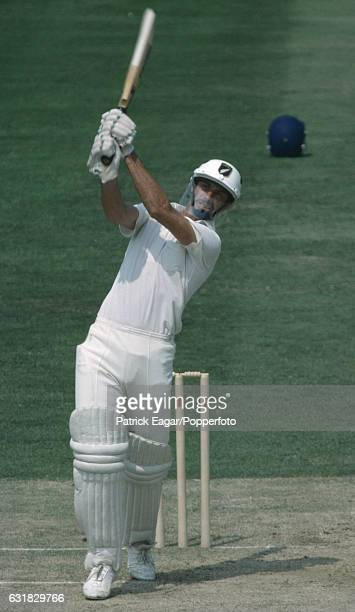 Richard Hadlee batting for New Zealand during his innings of 84 in the 1st Test match between England and New Zealand at The Oval London 15th July...