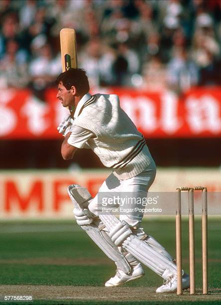 Richard Hadlee batting for New Zealand during the Prudential World Cup match between England and New Zealand at Edgbaston Birmingham 15th June 1983