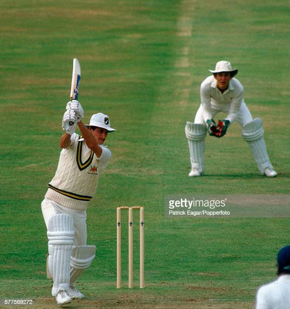Richard Hadlee batting for Nottinghamshire during the Benson and Hedges Cup Semi Final between Nottinghamshire and Lancashire at Trent Bridge...