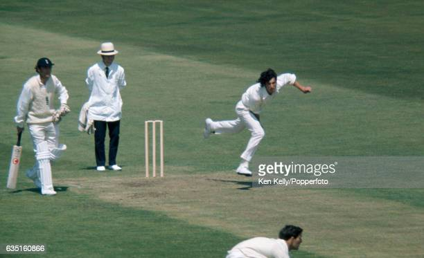 Richard Hadlee bowling for New Zealand during the 1st Test match between England and New Zealand at Trent Bridge Nottingham 7th June 1973 The England...