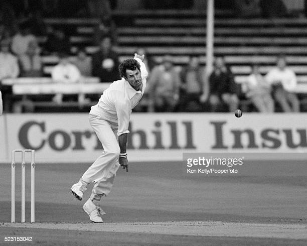 Richard Hadlee bowling for New Zealand during the 2nd Test match between England and New Zealand at Trent Bridge in Nottingham 7th August 1986 New...
