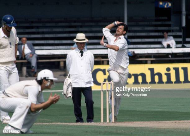 Richard Hadlee bowling for New Zealand during the 2nd Test match between England and New Zealand at Trent Bridge Nottingham 12th August 1986 The...