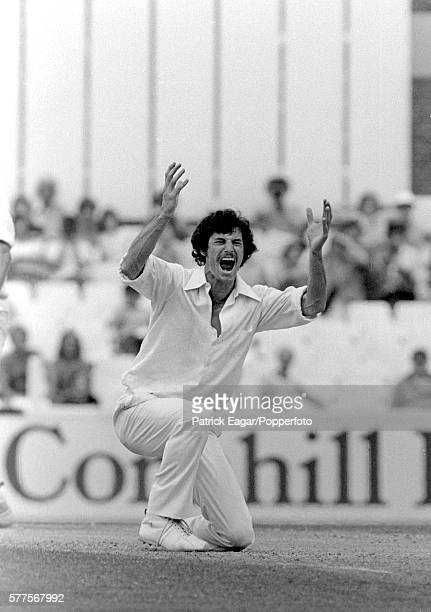 Richard Hadlee of New Zealand appeals for a wicket during the 1st Test match between England and New Zealand at The Oval London 28th July 1978
