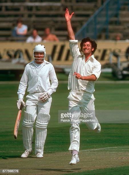 Richard Hadlee of Nottinghamshire takes a wicket during the Benson and Hedges Cup in June 1978