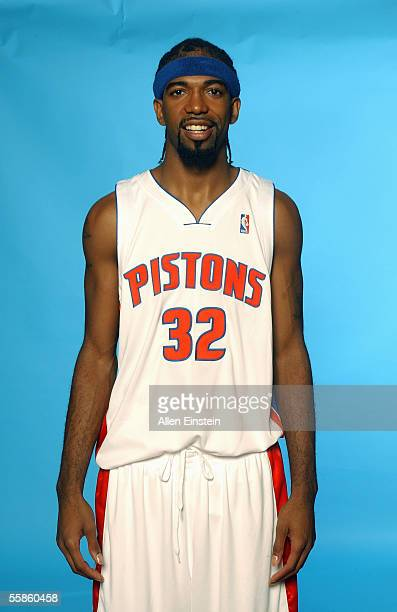 Richard Hamilton of the Detroit Pistons poses for a portrait during the Pistons Media Day on October 3, 2005 in Auburn Hills, Michigan. NOTE TO USER:...