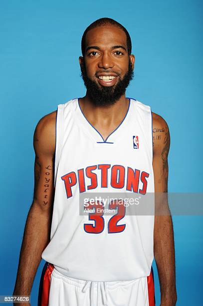Richard Hamilton of the Detroit Pistons poses for a portrait during NBA Media Day at the Pistons Practice Facility on September 29 2008 in Auburn...