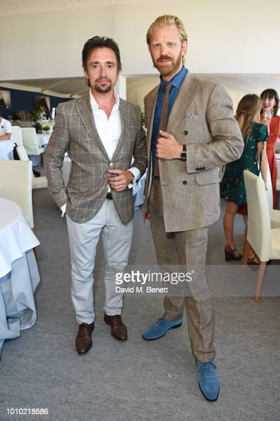 Richard Hammond and Alistair Guy attend the Longines hospitality lounge during the Global Champions Tour at Royal Hospital Chelsea on August 3 2018...