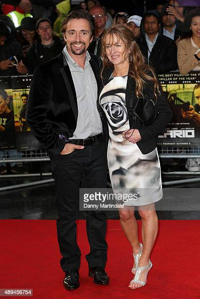 """Richard Hammond and Amanda Etheridge attend the UK Premiere of """"Sicario"""" at Empire Leicester Square on September 21, 2015 in London, England."""