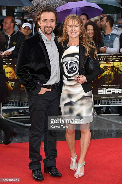 Richard Hammond and Amanda Etheridge attend the UK Premiere of 'Sicario' at Empire Leicester Square on September 21 2015 in London England