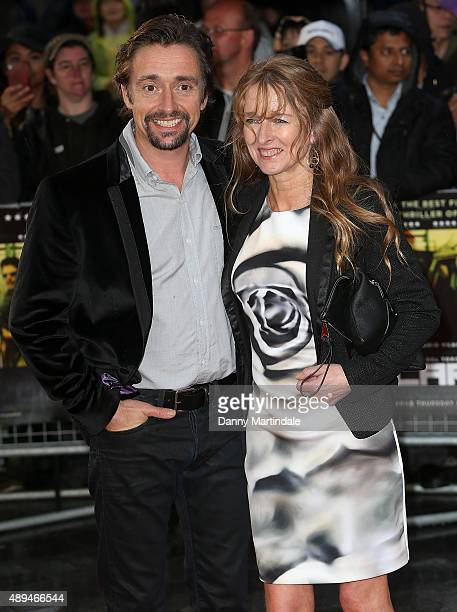 """Richard Hammond and his wife Amanda Etheridge attends the UK Premiere of """"Sicario"""" at Empire Leicester Square on September 21, 2015 in London,..."""