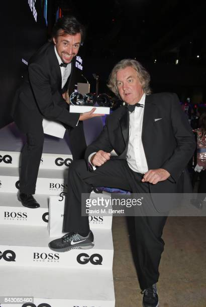 Richard Hammond and James May winners of the TV Personality of the Year award for 'The Grand Tour' attend the GQ Men Of The Year Awards at the Tate...