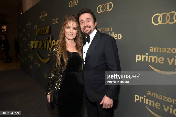 Richard Hammond and Mindy Hammond attend the Amazon Prime Video's Golden Globe Awards After Party at The Beverly Hilton Hotel on January 6 2019 in...