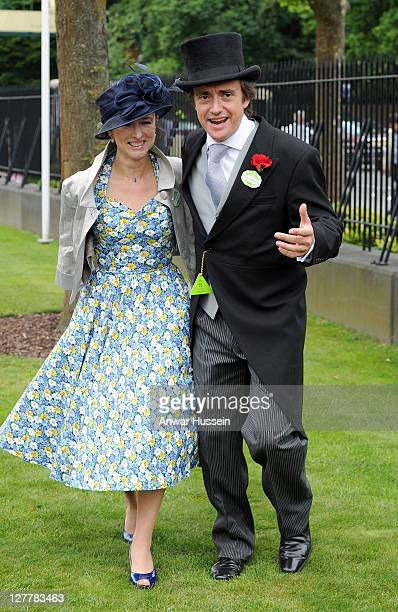 Richard Hammond and wife Mindy Hammond attend the second day of Royal Ascot on June 15 2011 in Ascot United Kingdom