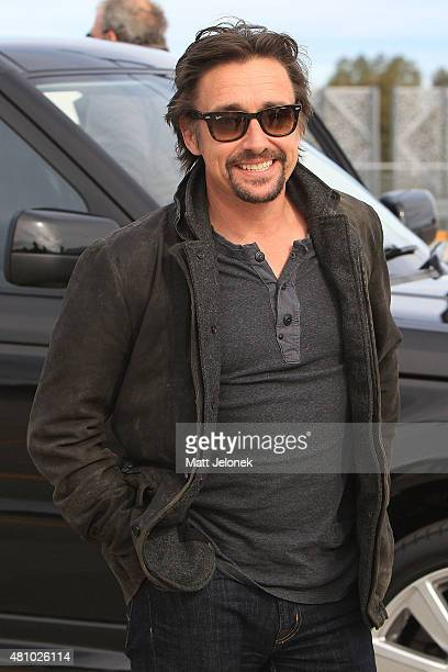 Richard Hammond arrives for a press event on July 17 2015 in Perth Australia