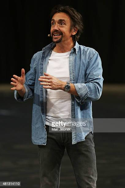 Richard Hammond during Clarkson Hammond and May Live at Perth Arena on July 19 2015 in Perth Australia