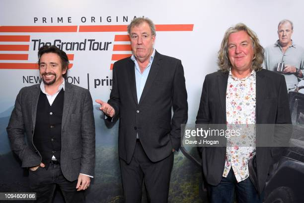 Richard Hammond Jeremy Clarkson and James May attend a screening of 'The Grand Tour' season 3 held at The Brewery on January 15 2019 in London England