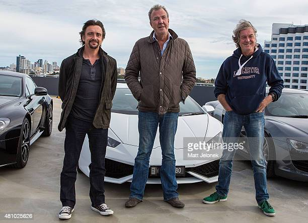 Richard Hammond Jeremy Clarkson and James May during a press event on July 17 2015 in Perth Australia