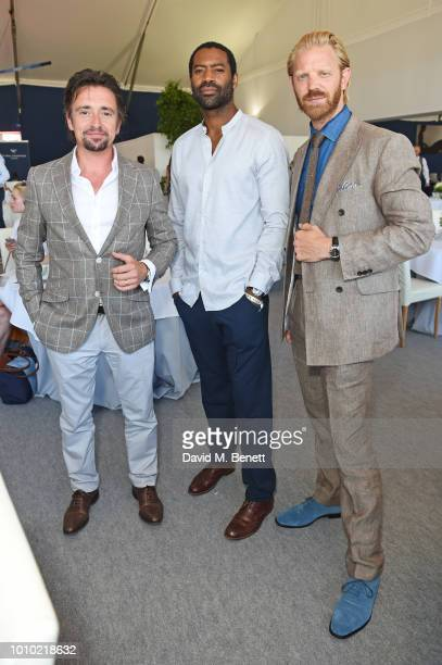 Richard Hammond Nicholas Pinnock and Alistair Guy attend the Longines hospitality lounge during the Global Champions Tour at Royal Hospital Chelsea...