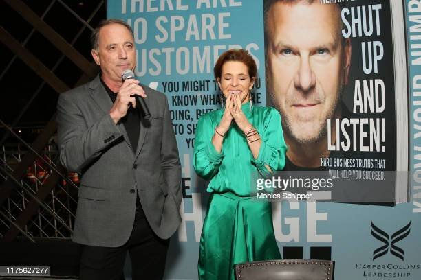 Richard Handler and Stephanie Ruhle attend as Haute Living and Louis XIII celebrate Tilman Fertitta cover and book release on September 18 2019 in...