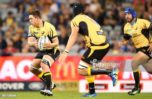 Richard Hardwick of the Force in action during the round three Super Rugby match between the Brumbies and the Force at GIO Stadium on March 10 2017...