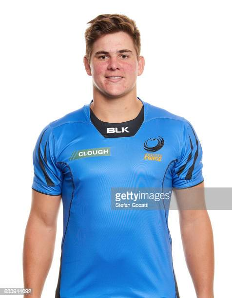 Richard Hardwick poses during the Western Force Super Rugby headshots session on January 20 2017 in Perth Australia