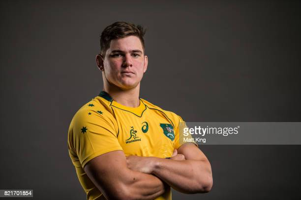 Richard Hardwick poses for a headshot during the Australian Wallabies Player Camp at the AIS on April 11 2017 in Canberra Australia