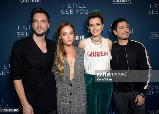 Richard Harmon Sara Thompson Bella Thorne and Jason Fuchs arrive at a Collider special screening of Lionsgate's I Still See You at the Arclight...