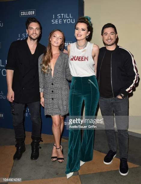 Richard Harmon Sara Thompson Bella Thorne and Jason Fuchs attend the special screening of Collider's 'I Still See You' at ArcLight Sherman Oaks on...