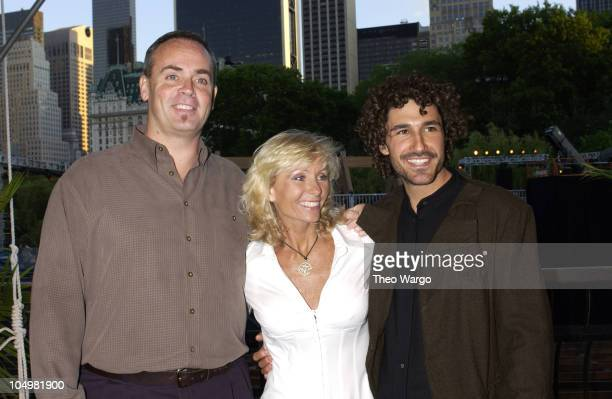 Richard Hatch Tina Wesson and Ethan Zohn during Survivor Marquesas Season Finale Arrivals at Central Park in New York City New York United States