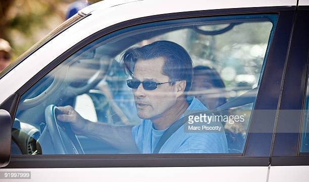 Richard Heene and wife Mayumi Heene leave in their car with their three boys on October 19 2009 in Fort Collins Colorado The Heenes are possibly...