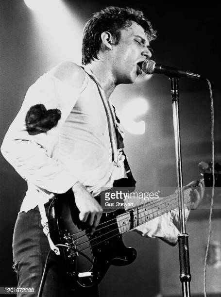 Richard Hell of Richard Hell & The Voidoids performs on stage at the Music Machine, Camden, London, England, on November 15th, 1977.