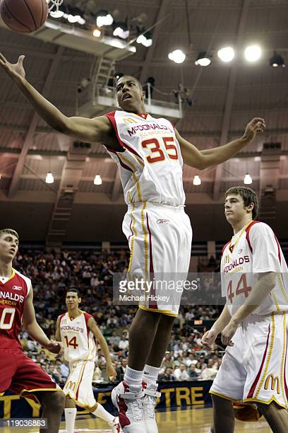 Richard Hendrix of Athens, AL plays in the McDonalds All American High School Basketball game at the Joyce Center in South Bend, IN on March 30, 2005.
