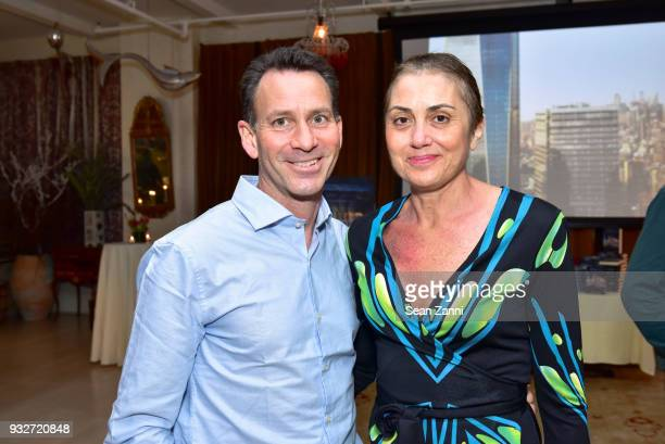 Richard Herman and Sophia Herman attend 'The Initiation' Book Launch at Bouley TK on March 15 2018 in New York City