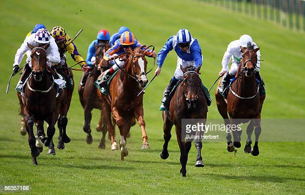 Richard Hills and Ghanaati storm home to land The stanjamescom 1000 Guineas Stakes Race run at Newmarket Racecourse on May 3 2009 in Newmarket England