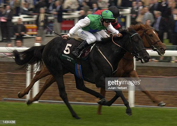 Richard Hills and Sharplaw Venture get the better of the Kieren Fallon ridden Hector's Girl to land The Watership Down Stud Sales Racerun at Ascot...