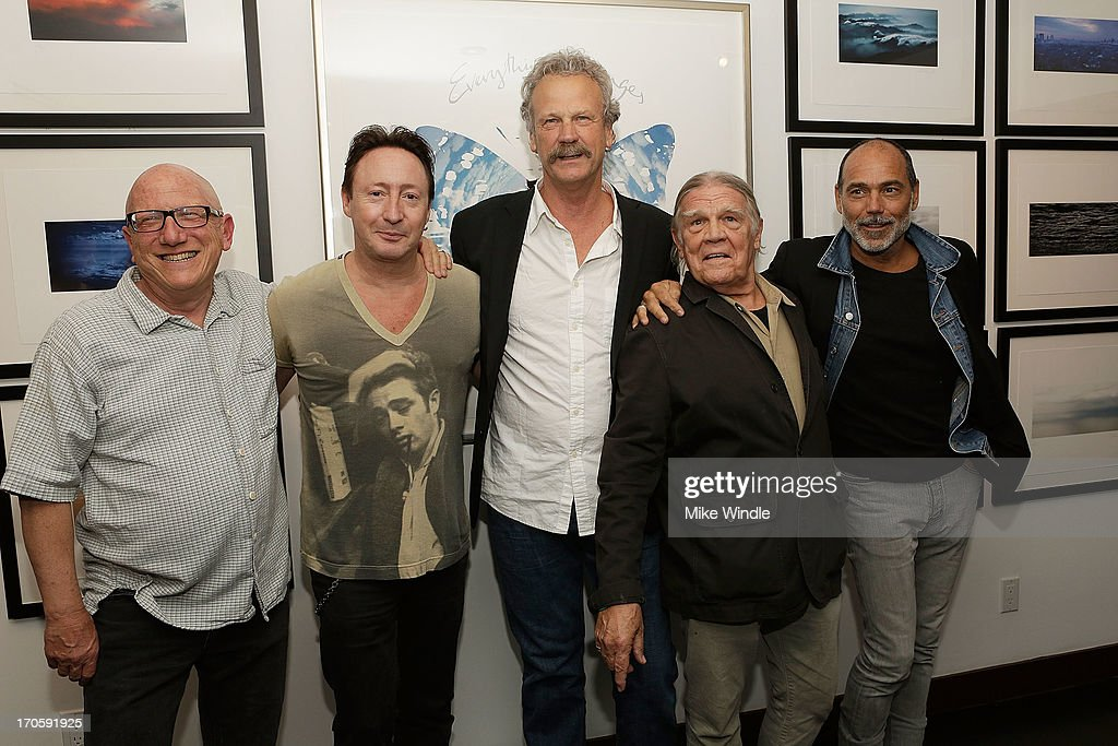 Richard Horowitz, Julian Lennon, Peter Blachley, Henry Diltz and Timothy White attend the Julian Lennon 'Everything Changes' CD release party at Sunset Marquis Morrison Hotel Gallery on June 14, 2013 in West Hollywood, California.