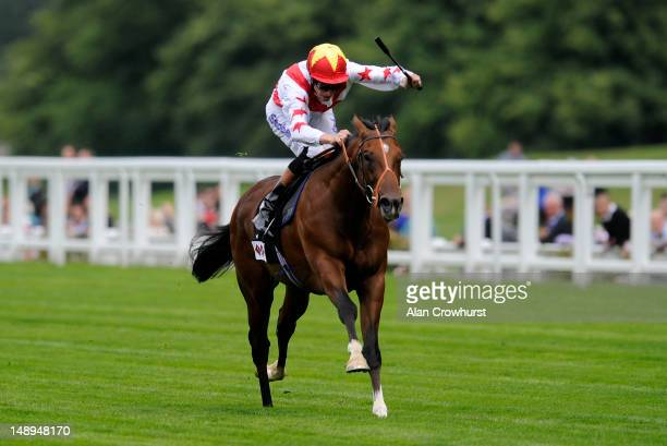 Richard Hughes riding Havana Gold wins The Foundation Developments Novie Stakes at Ascot racecourse on July 20 2012 in Ascot England