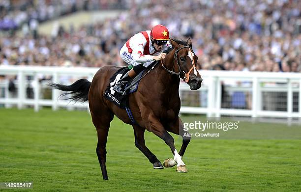 Richard Hughes riding Tornado win The Carraig Insurance Winkfield Stakes at Ascot racecourse on July 21 2012 in Ascot England